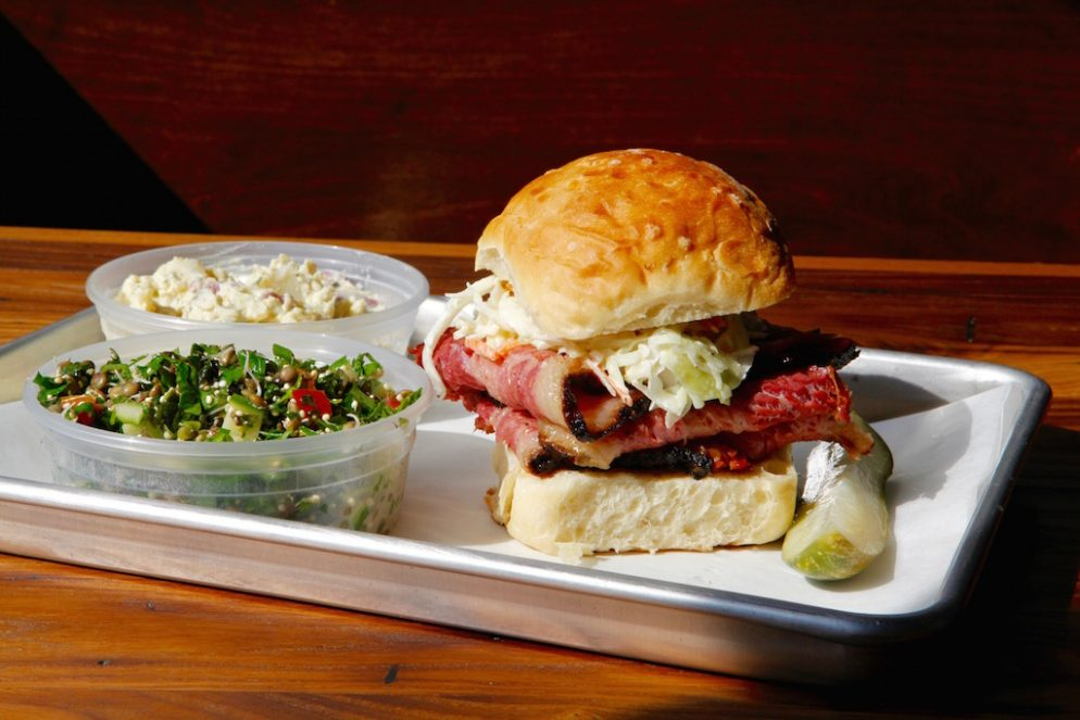 Smoked & Stacked Opens Friday With 800 Pounds of Pastrami