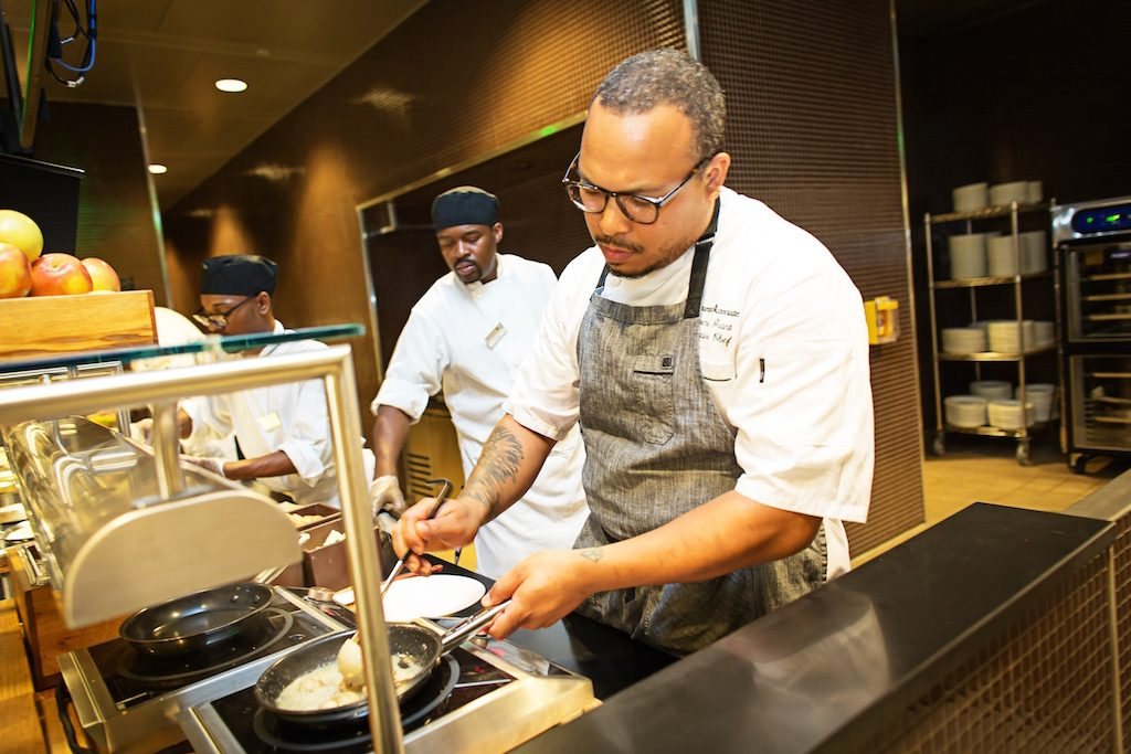 Executive chef Jerome Grant, formerly of Mitsitam Cafe, designed the menu.
