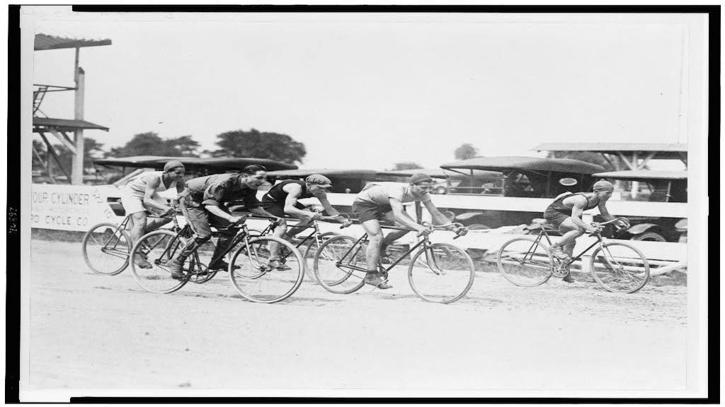 1922 bike race in Washington D.C. Photographer Unknown