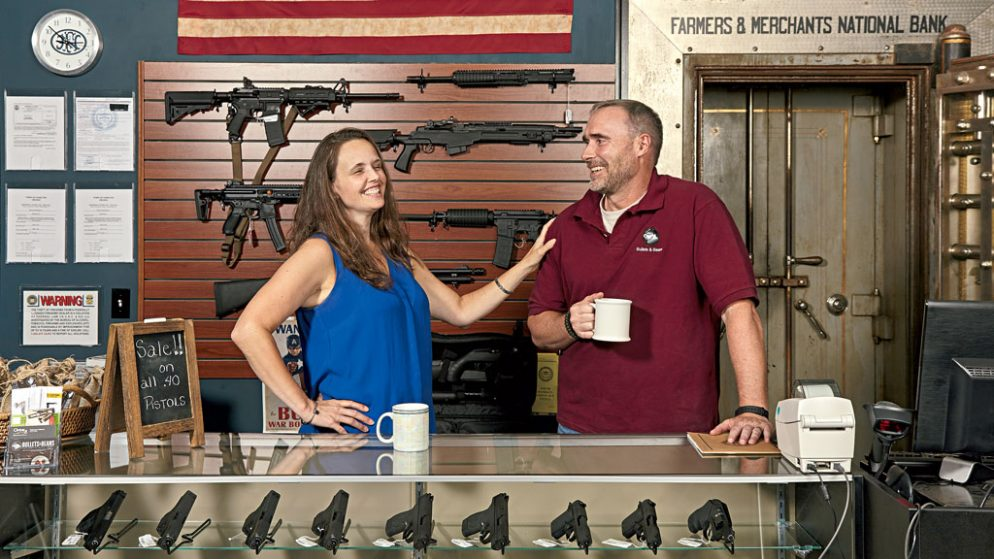 This Couple Is Having an Easier Time Selling Guns Than Coffee