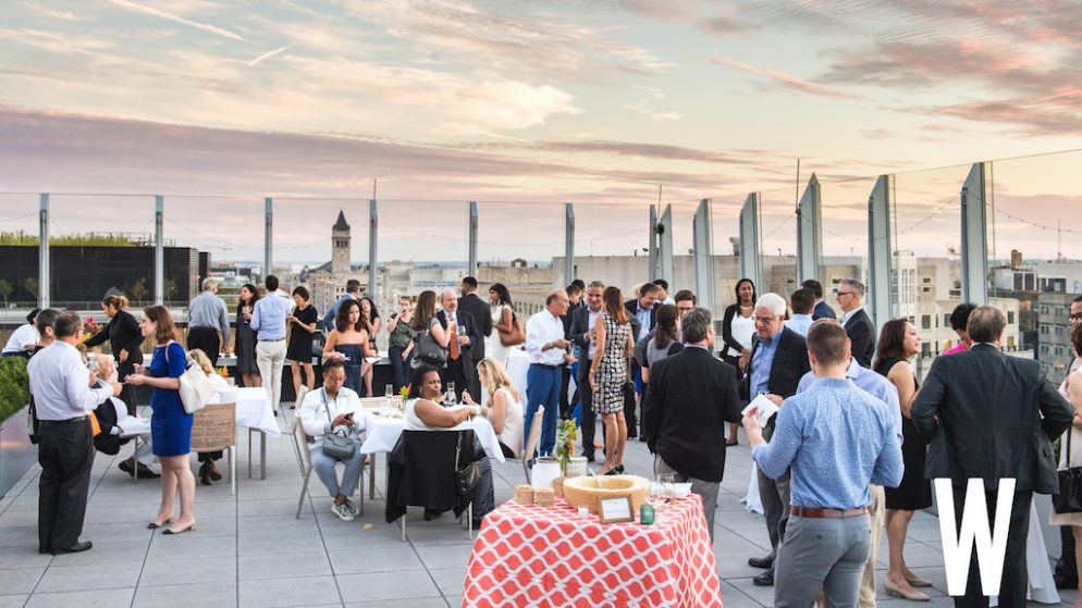 Casa Luca Celebrates Third Anniversary With Rooftop Party (And A Flaming Wheel Of Cheese)