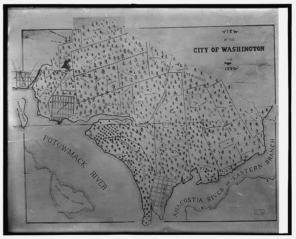 Washington DC 1792 map