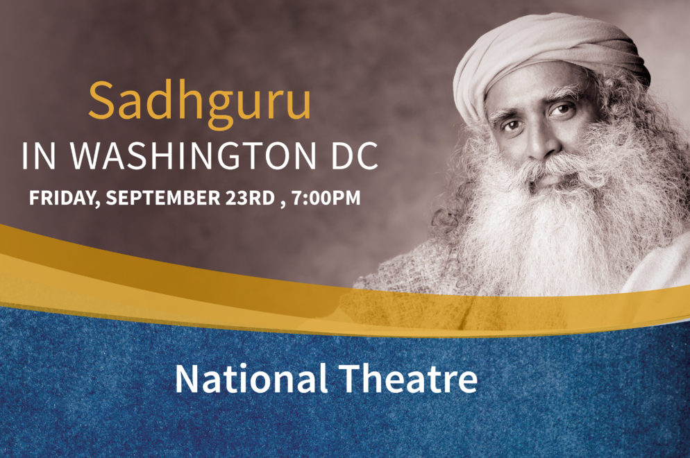 Are You Stressed Out? – Meet, Mingle, Meditate with Sadhguru in Washington DC