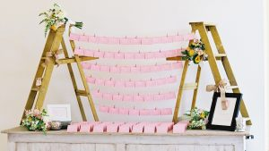 How Cute is the Step Ladder Escort Card Display at This Virginia Wedding?