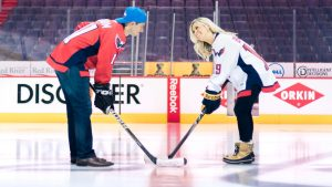 This Hockey Engagement Shoot at the Verizon Center is Every Caps Super-Fan's Dream
