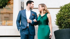 This DC Bride Threw a Party-Only Wedding AND Wore a Green Dress
