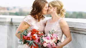 The Reason these DC Brides Wore Pink Will Make You Weepy