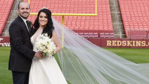 When Your Dad is Former Redskin Russ Grimm, OF COURSE You Get Married at FedEx Field