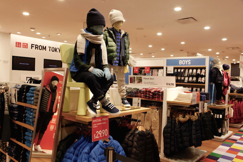 Uniqlo sells apparel for the whole family, kids included.