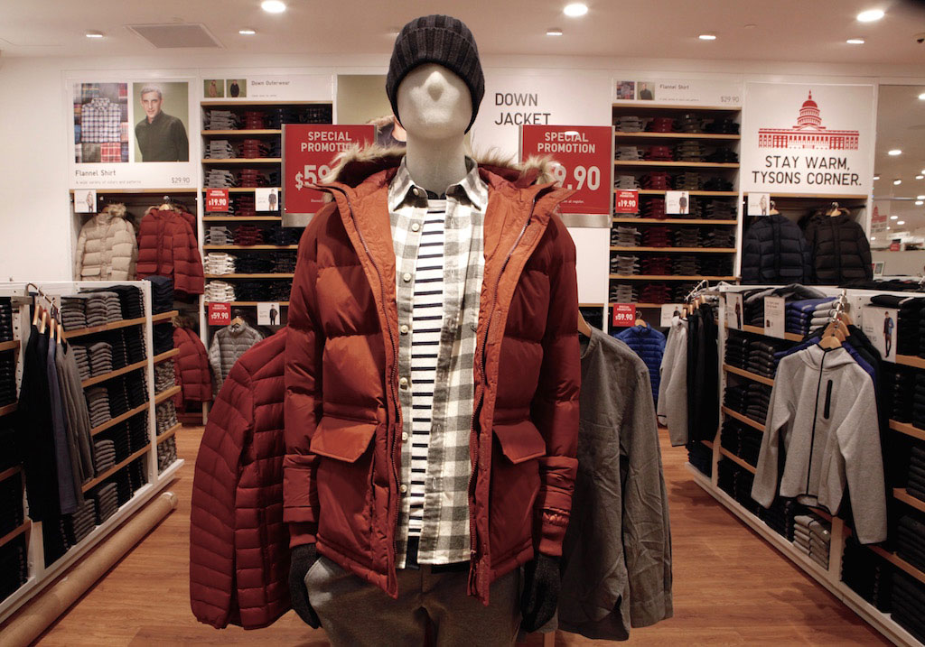 Much of the store's current stock is all about staying warm through the winter.