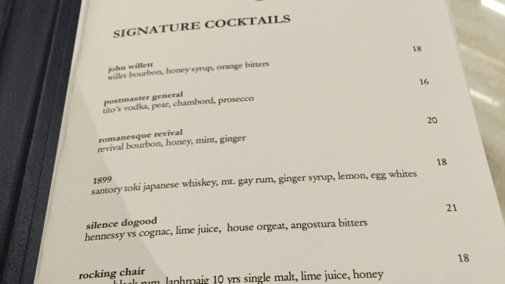 The Trump Hotel's Bar Has Already Jacked Up Its Cocktail Prices