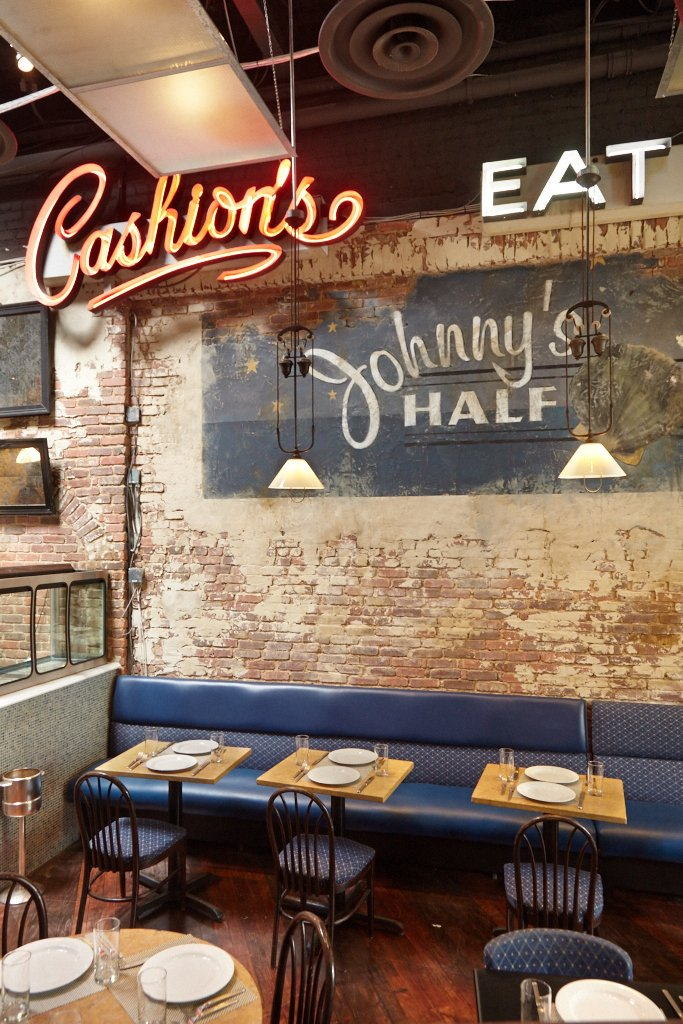 The new Johnny's Half Shell space in Adams Morgan boasts the original Cashion's sign in the dining room.