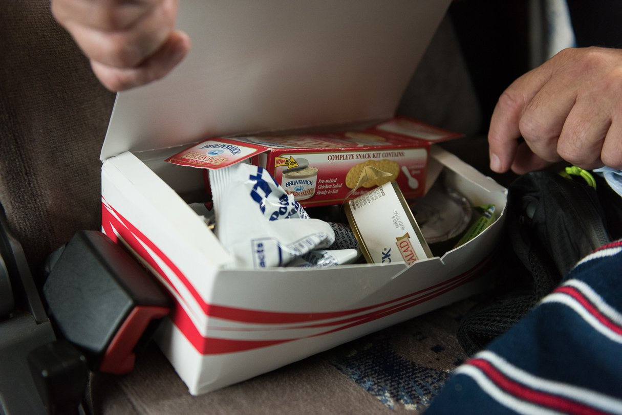 Runners who board the bus receive a care package of sorts to help replenish their lost calories. In 2015, the first runner climbed aboard at the second mile, meaning some participants were on the bus for as many as seven or eight hours.