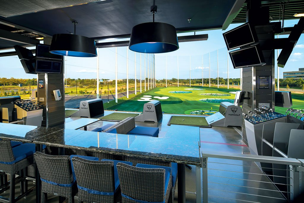 Topgolf driving range. Photograph by Michael Baxter.