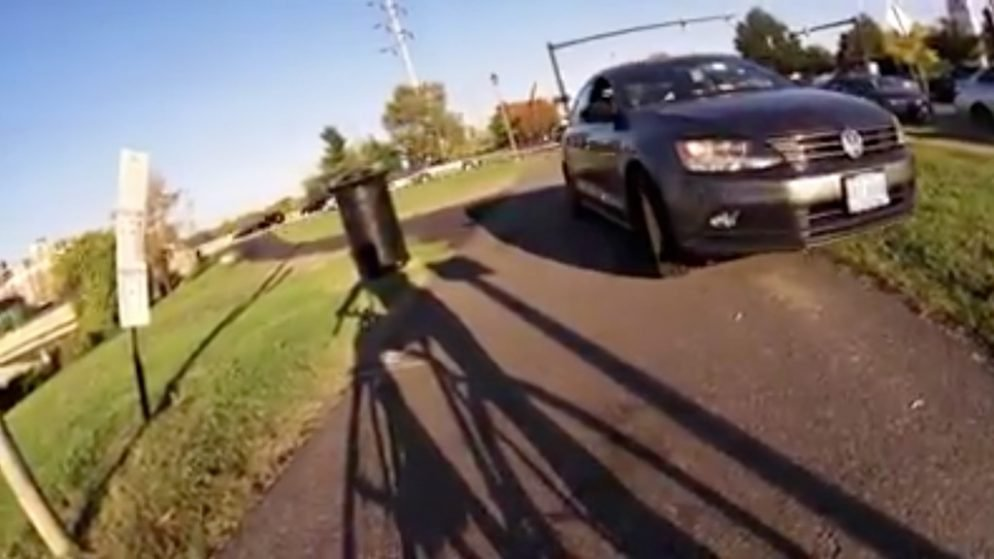 Here's a Car Driving on a Bike Path in Alexandria