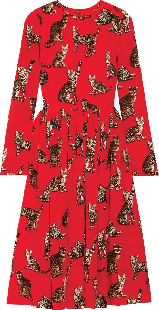 Dolce & Gabbana cat-print dress