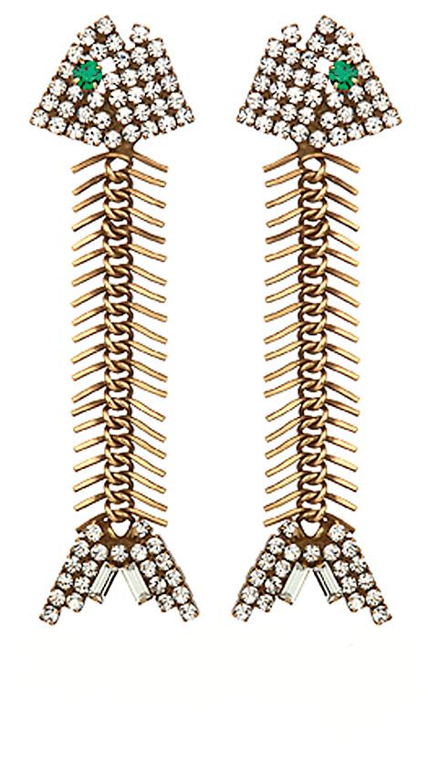 Fish-bone earrings