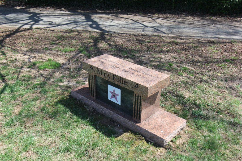 Mary Fuller's headstone.