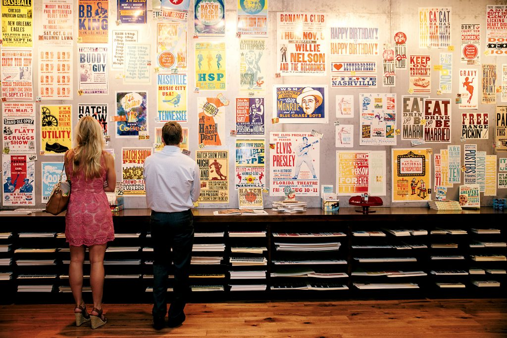 Photograph of Hatch Show Print Courtesy of Country Music Hall of Fame and Museum.
