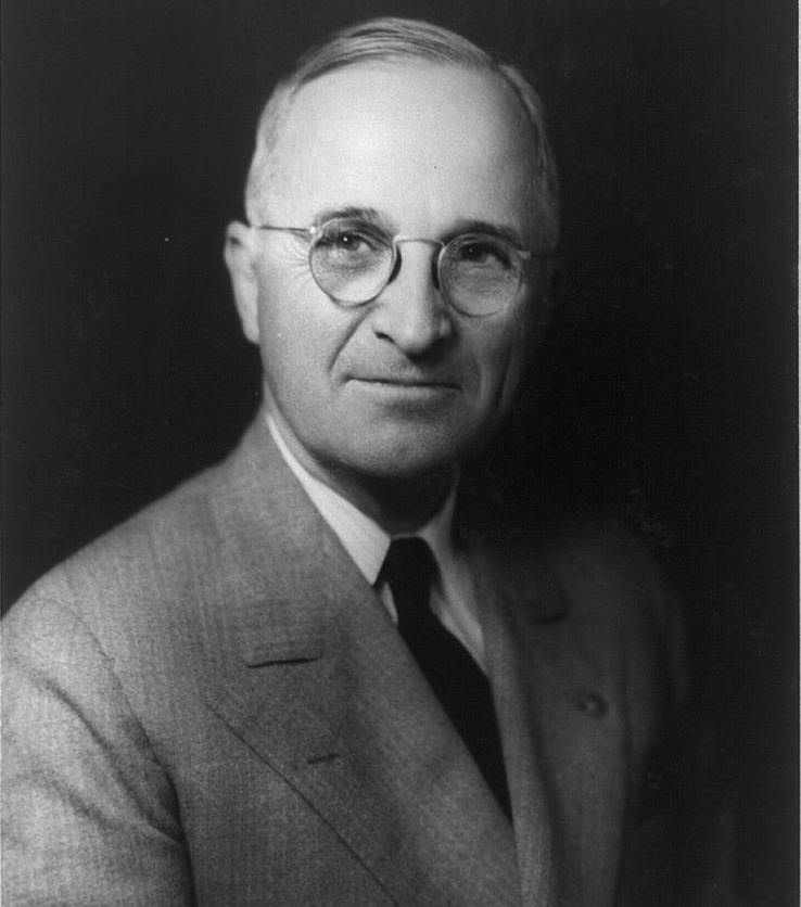 President Harry S. Truman, 1945. Photo via Library of Congress.