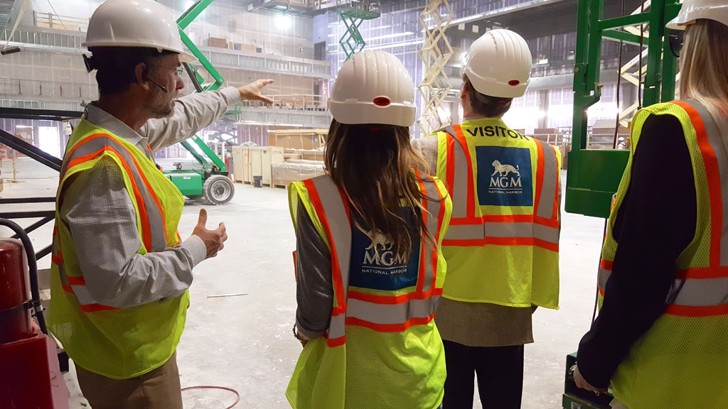 Sarah Jessica Parker and her business partner check out the under-construction National Harbor spot. Photograph courtesy SJP Collection.