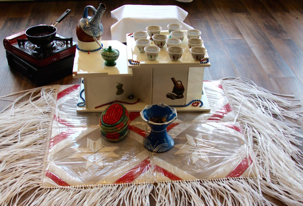 Traditional Ethiopian Coffee Ceremony at Eyo Resturant. Photo Courtesy of Casie Bizuwork