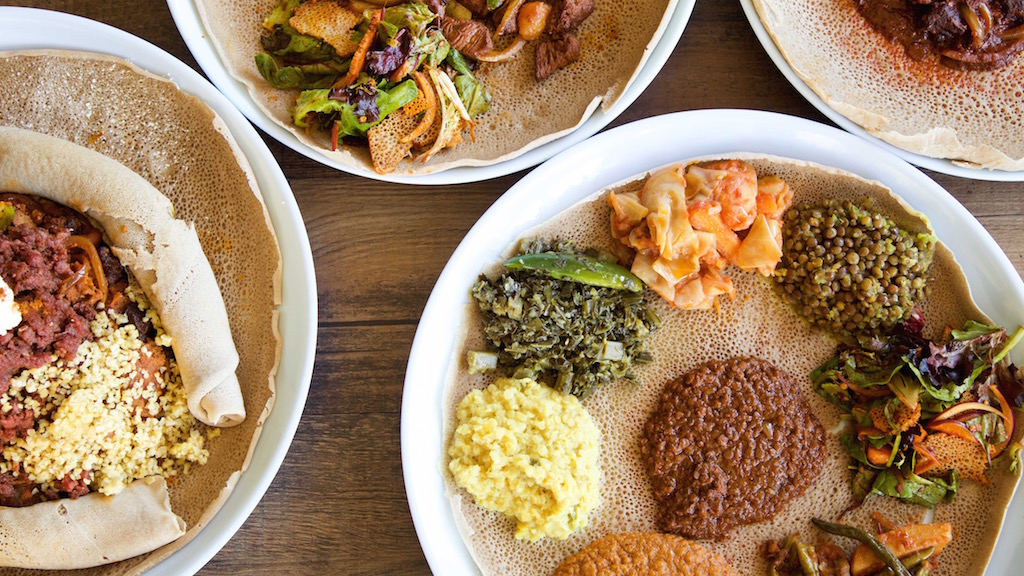 Eyo Restaurant offers traditional Ethiopian fare. Photograph courtesy Eyo Restaurant.