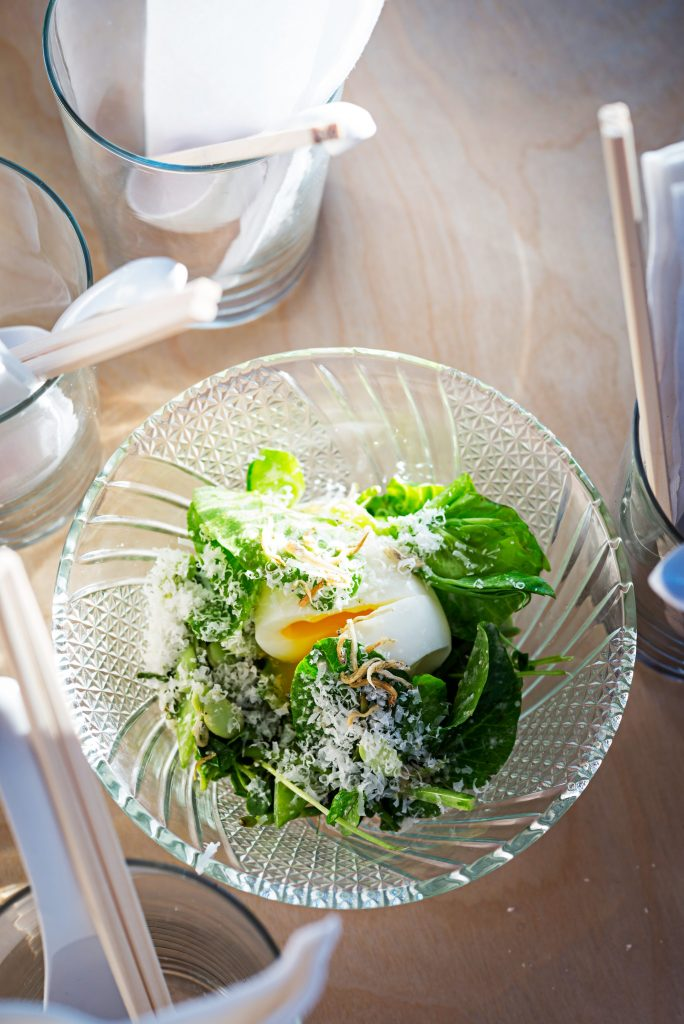 """Pea-sar"" salad, a riff on the classic salad. Photo by Scott Suchman."