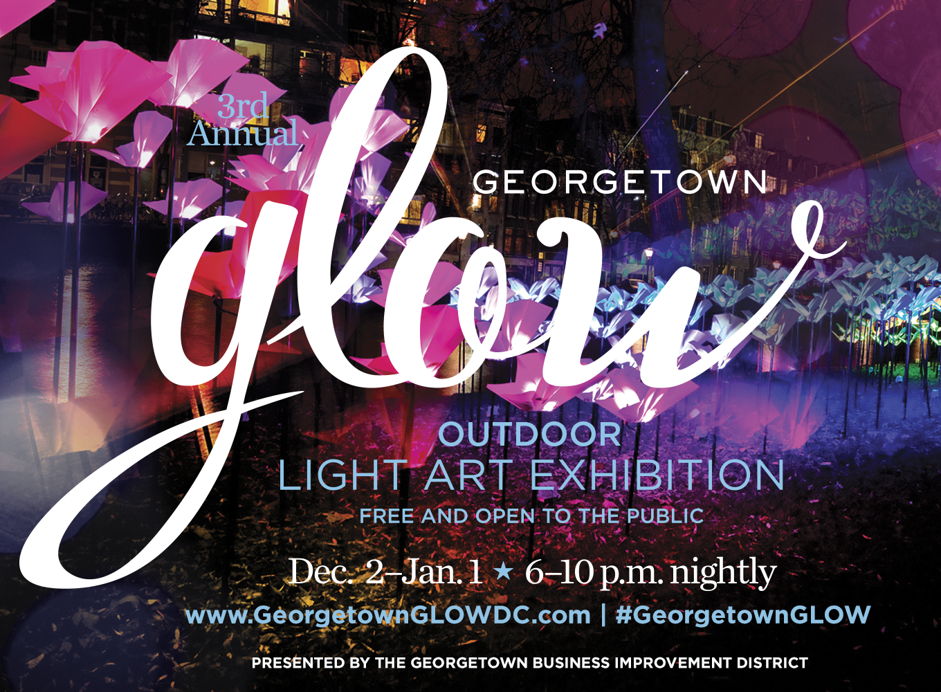 Re-imagine the season of light at Georgetown GLOW December 2 – January 1