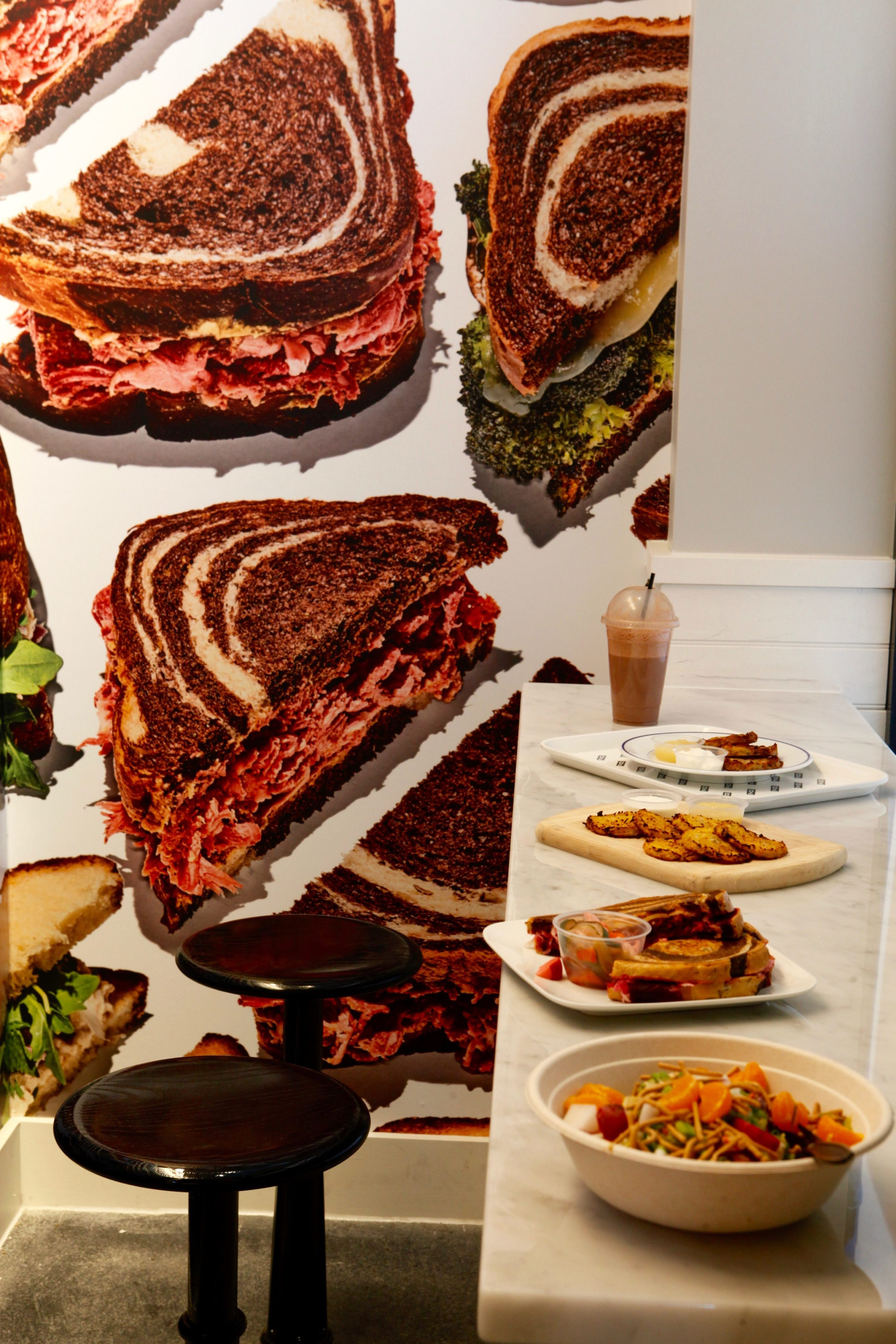 Sandwiches go on the plate and the wall thanks to DC-based design team HapstakDemetriou.