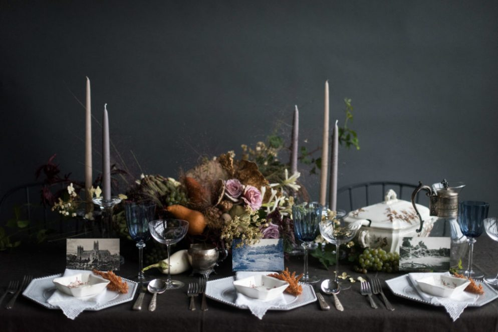 How to Create a Moody, Vintage-Inspired, Instagram-Worthy Thanksgiving Tablescape