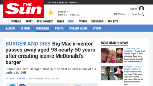 "The Story Behind ""Burger and Dies,"" One of 2016's Best Headlines"