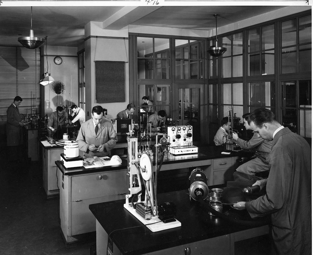 FBI's Crime Lab during the 1940's.
