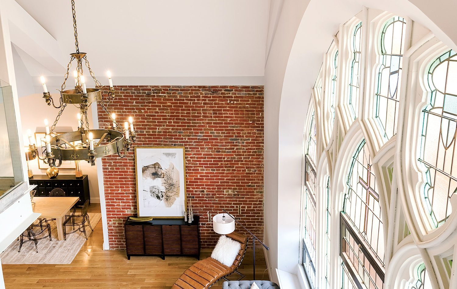 We Can't Get Over the Windows In This Converted-Church Condo