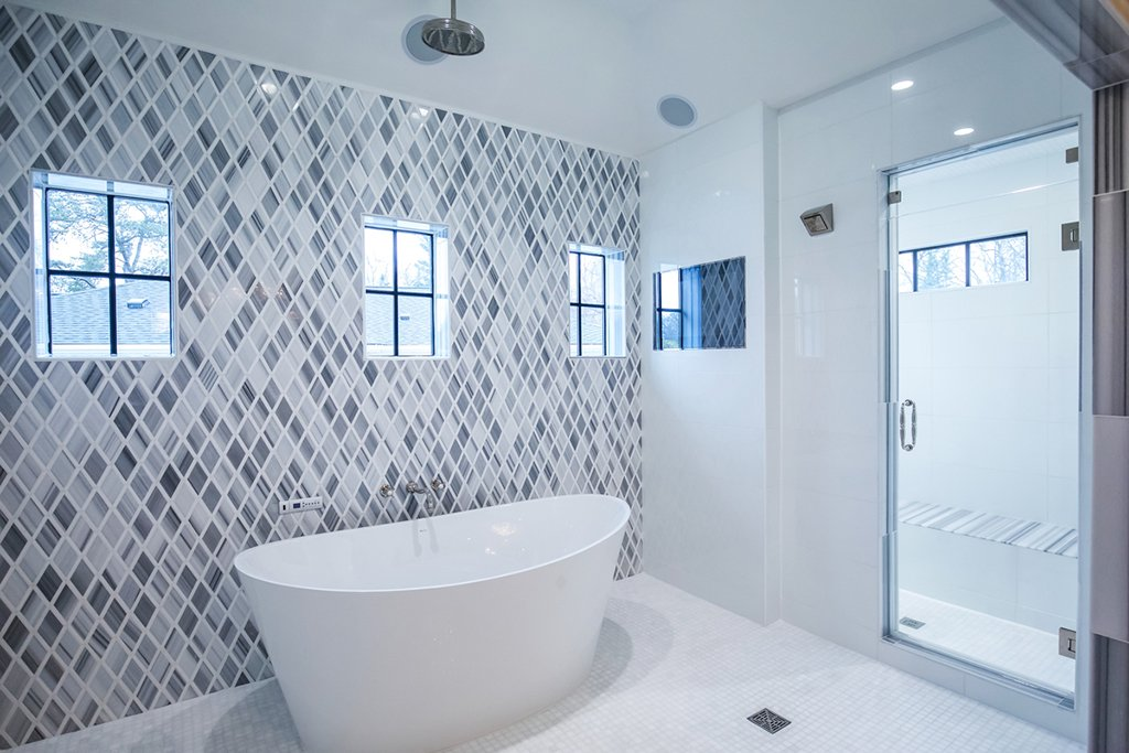 Five Tips For Choosing The Perfect Bathroom Tile Washingtonian Dc - Blue-ceramic-bathroom-tile