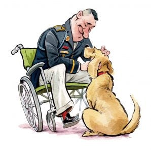 How Training Service Dogs Helps Heal Vets with PTSD