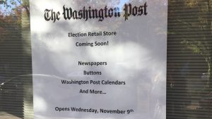 The Washington Post Will Open a Pop-Up Shop After the Election