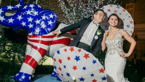 When a Founder of Republican Women for Hillary Marries a Democrat, Of Course the Wedding is Election-Themed