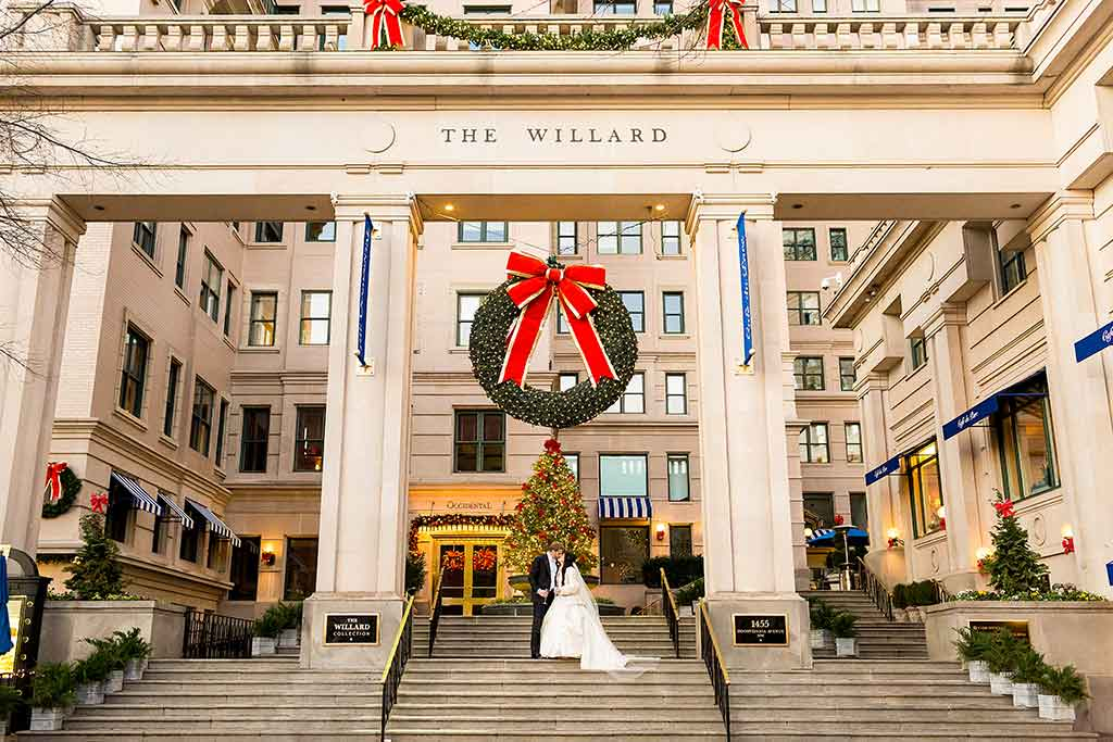This High School Sweetheart's Christmas-Themed Wedding Is Guaranteed to Bring You Holiday Joy