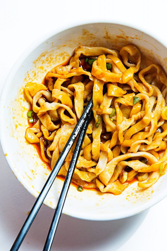 Suan La Mian- Noodles in A & J Special Hot & Sour Sauce