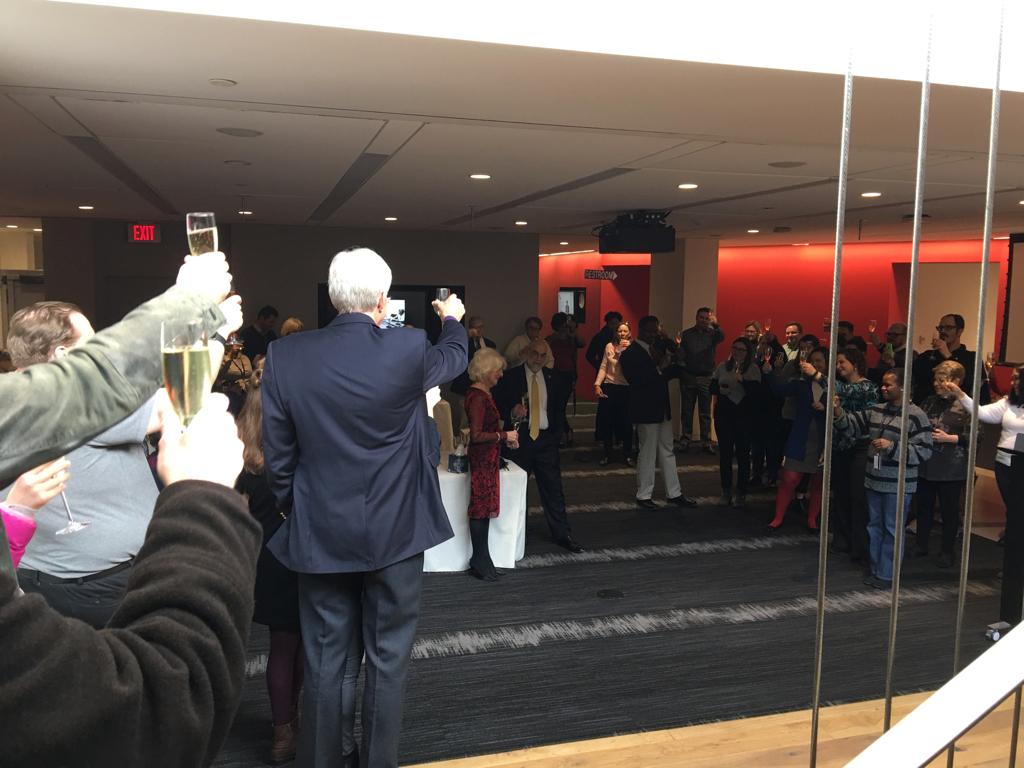 A toast to Rehm.