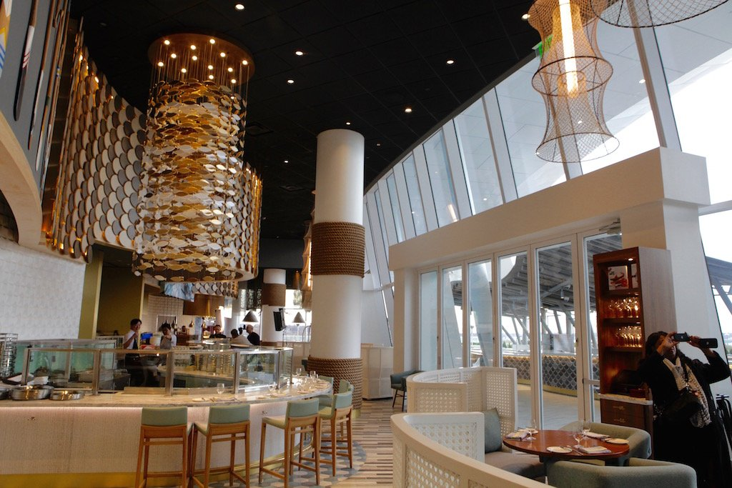 Inside the celebrity chef restaurants at mgm national harbor for Fish restaurant mgm