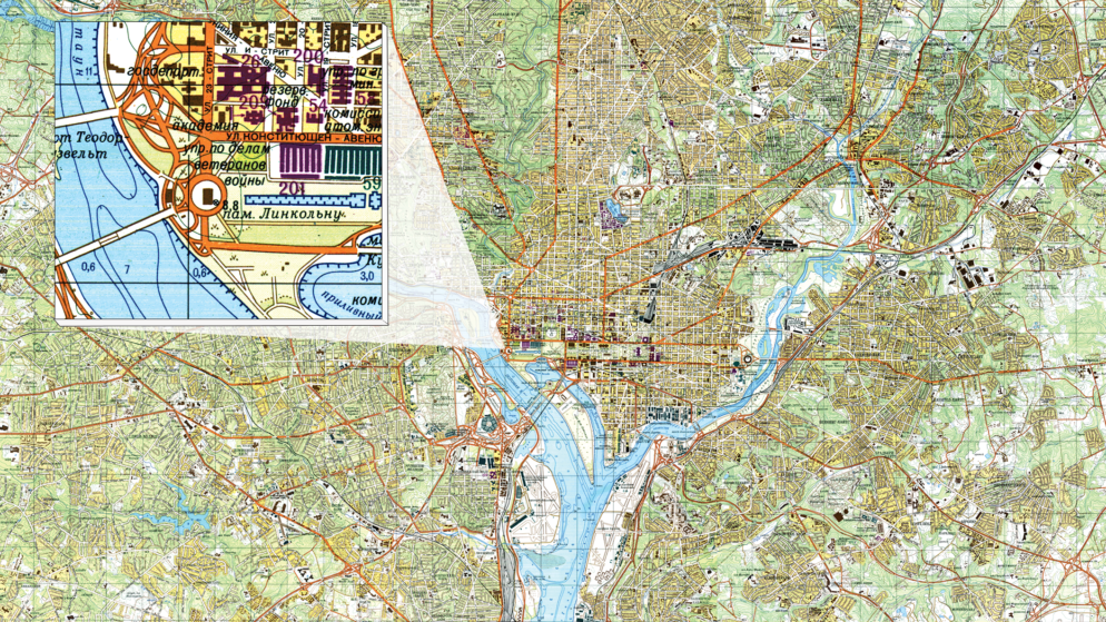 Russia Spied on DC for Decades Using This Inaccurate Map