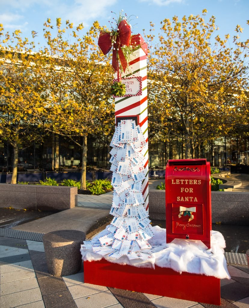 Letters to Santa Tower and mailbox.