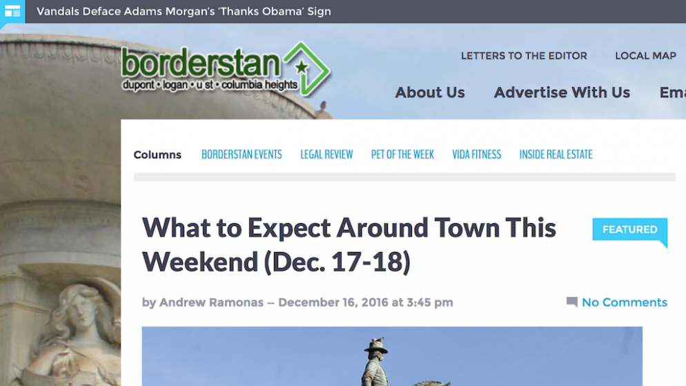 Local News Site Borderstan to Close