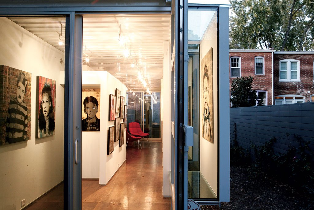 This Guy Built His Own Backyard Art Gallery Out Of A Shipping Container