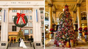 This Christmas-Themed Wedding at the Willard Will Put You In the Holiday Spirit