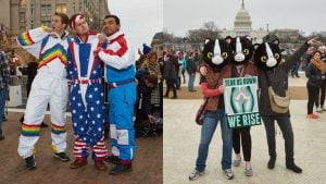Two Days, Two Very Different Crowds in Washington