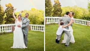 This Virginia Couple Celebrating Their Wedding-Day Rainbow is Pure Happiness