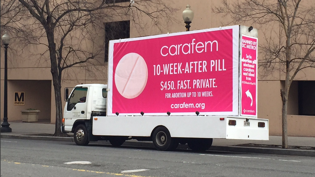 A Maryland Health Clinic Is Trolling Metro for Rejecting Its Abortion Pill Ads
